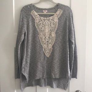 Feminine Gray Lightweight Sweater
